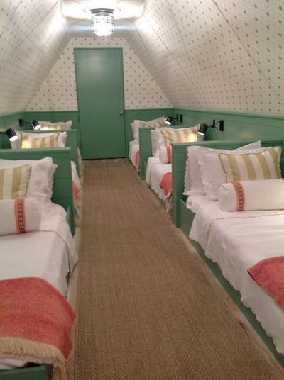 Sleepover beds in the attic....holy cow this needs to happen in my future home!