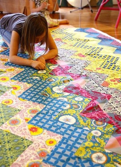 Free PDF for zig zag quilt pattern / quilting fever - Juxtapost