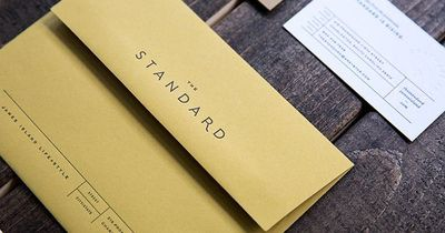 The Standard visual identity and stationery by Stitch.