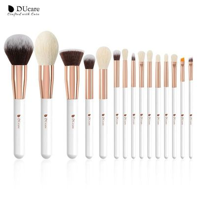 DUcare brushes Pearl White/Red/Black Makeup brushes set Professional Beauty Make up brush Natural hair Foundation Powder Blushes $24.07