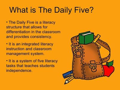 What is the The Daily Five? An excellent slideshare presentation to help with getting started!