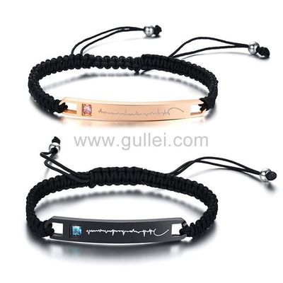 Gullei.com Heartbeat Couple Promise Bracelets Birthday Gift https://www.gullei.com/couples-gift-ideas/his-and-her-bracelets.html