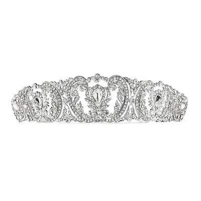 Retro Chic Vintage Wedding Tiara with French Pave Crystals $59.00