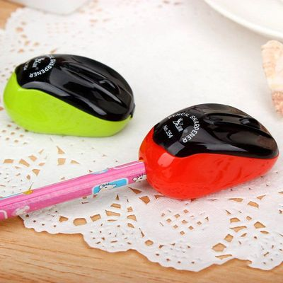 Plastic Single Hole Keyboard Mouse Pencil Sharpener. 55mm x 20mm. Different Colours Available. £6.49