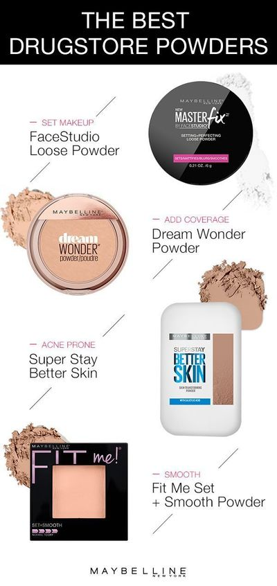 With so many amazing drugstore powders by Maybelline, how do you choose one? This guide helps you choose the right face powder for you! To set your makeup use Maybelline Master Fix Setting Powder. To add coverage, use Dream Wonder Powder in your shade. Fo...