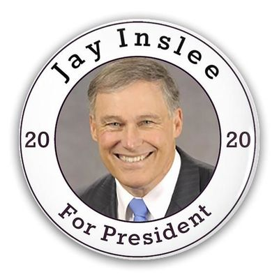 Pin-Back Buttons Jay Inslee For President 2020 $12.00