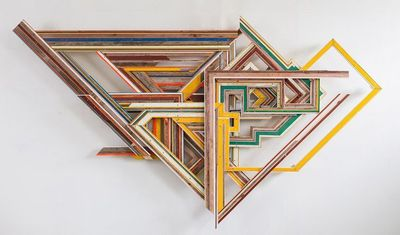 Terrence Campagna uses new and found wood to make art that is both painterly and sculptural. Gathering wood from a range of places including Wisconsin, Nebraska