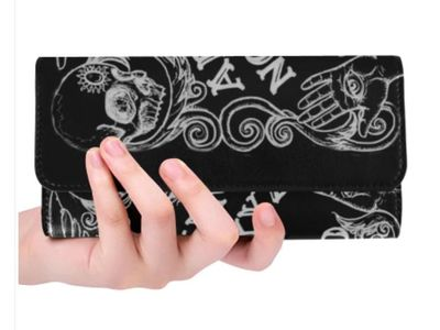Ouija Board Black wallet ladies trifold