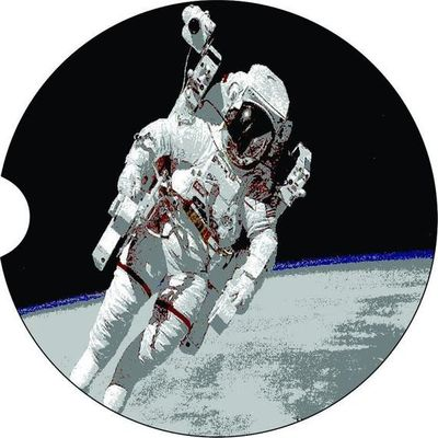 Astronaut, 2 Absorbent Car Coasters, Car Accessories for her, Auto Coaster, Coaster, Cup Holder Coaster, Gift For Her, For Him $14.00