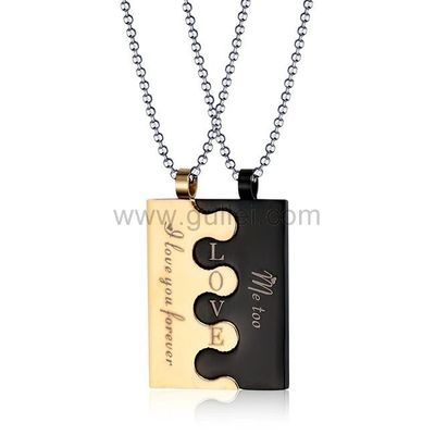 Personalized Interlocking Necklaces Best Gifts for Couples by Gullei.com