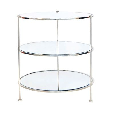 3 Tier Nickel Side Table $1482.00