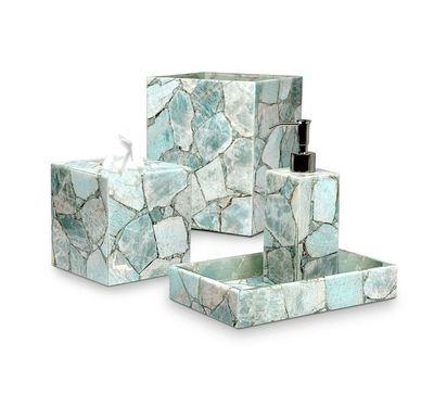 Taj Amazonite Bath Collection by Mike + Ally $1000.00