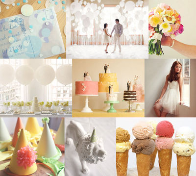 bright white and cheerful pastels