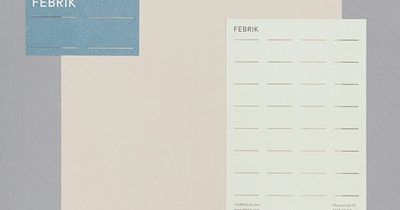 Visual identity and stationery for interior textiles business Febrik designed by Raw Color.