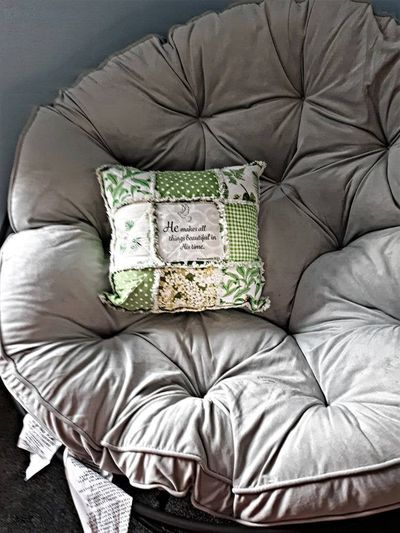 Green Accent Couch Pillow-Inspirational Verse Womens Gift-Decorative Floral Toss Pillow-Housewarming Throw Pillow Gift $45.00
