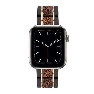 Ebony & Zebra Wooden Band for Apple Watch iWatch Series 5, 4, 3, 2, 1 $70.00