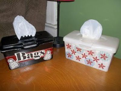 Don't toss those empty baby wipe containers! We have 24 awesome ways to reuse them.