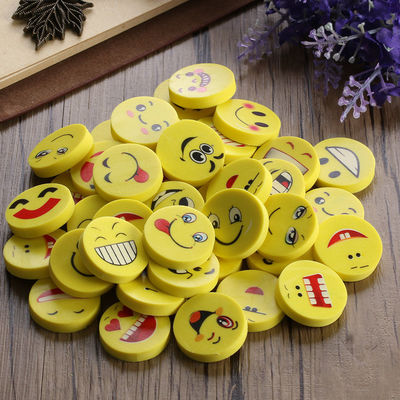 Pack of 20 Yellow Assorted Faces Emoticon Emoji Smiley Erasers. Novelty Rubbers. School Office Stationery £5.69