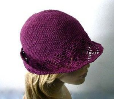crochet cloche hat pattern free | Purple Crochet Cloche/Buck ...