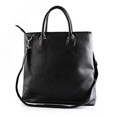 Big Capacity Fashion Men Handbag Pu Leather Euro Style Shoudler Bag Multi Functional Travel College Man Tote Casual Black Bags