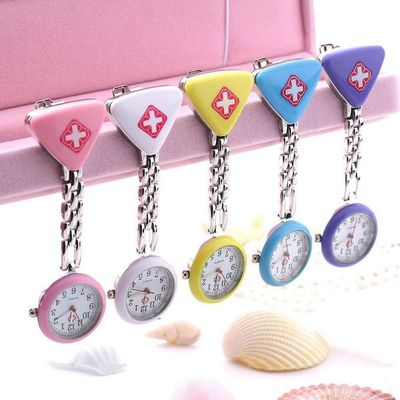 Nurse Doctor Pendant Pocket Quartz Red Cross Watch $13.14