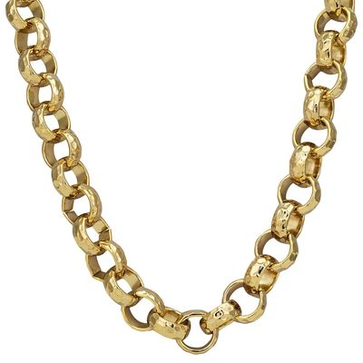 The Bling King Mens 18k Gold Filled or Silver Filled Diamond Cut Solid Belcher Chain Necklace or Bracelet £109.90