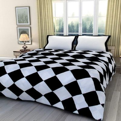 New Indian Cotton Dohar Quilt Checkered Single Quilt Reversible AC Blanket/Dohar/Quilt for Home (Single, Multi-coloured) $61.48