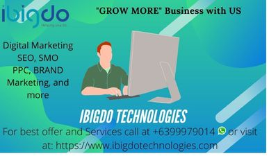Ibigdo Technologies are the Digital marketing specialists that make the most of online advertising using all available platforms to identify the target market, create brand identity, and conduct online marketing campaigns.  We provide professional servic...