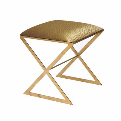 X Bench in Gold Leaf with Gold Fabric $878.00