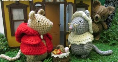 Amigurumi To Go Little Red Riding Mouse Free Patterns Cro