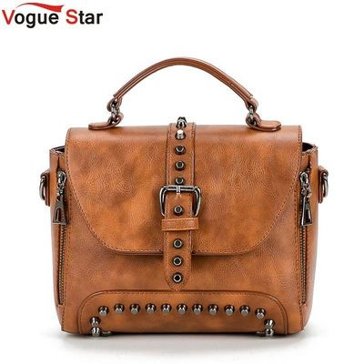 Crossbody Bags For Women Messenger Bags 2018 Vintage Leather Bags Handbags Women Famous Brand Rivet Small Shoulder Sac L35 $35.72