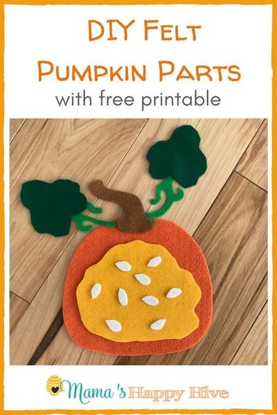 this diy felt pumpkin parts and life cycle includes a free. Black Bedroom Furniture Sets. Home Design Ideas