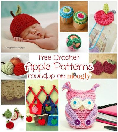Free Crochet Apple Patterns :: Roundup on moogly!