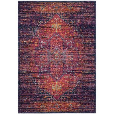 Found it at Joss & Main - Nellie Rug in Blue & Fuchsia