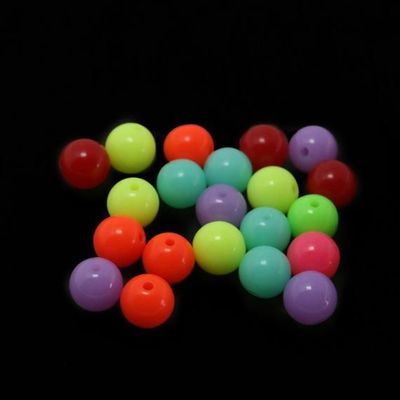 Pack of 50 Gum Ball Beads. Different Colours Available. 10mm Round Plastic Spacers £3.19