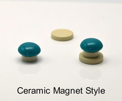 12 mm Red, Red Purple or Dark Turquoise Button Magnetic Earrings $20.00 Designed by LauraWilson.com