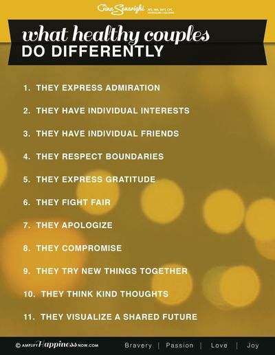 All relationships should share these qualities-What Healthy Couples Do Differently www.amplifyhappinessnow.com #premarital�€�