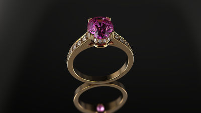 ring two carats pink tourmaline 0.25 carats diamonds F color VS2 clarity < #jewelry #oneofkind #specialorder #customize #honest #integrity #diamond #gold #rings #weddingband #anniversary #finejewelry #salknight