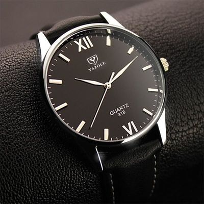 Watch Simple Hook Needle Business Watch Roman Scale Male Soft Leather Watch Men's Quartz Watches $16.0020% off code: fairytale