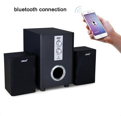 SADA Q1 Combination Wooden Subwoofer Speaker Wireless 3 Channel bluetooth 2.1 Column Computer Speaker with TF USB Support TF Card