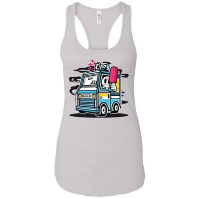 Ice Cream Truck - Food Art - Women's Racerback Tank Top $9.97
