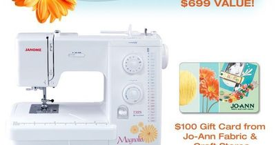 Win a Janome Sewing Machine, Fabric, Thread More!