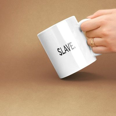 Slave a sexy ,dirty rude vulgar white ceramic coffee mug gag gift| batchelor party |batchelorette party | $15.95