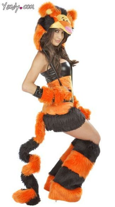 love the tail, headpiece and legwarmers. the dress is too slutty! Omg!! Love this!!