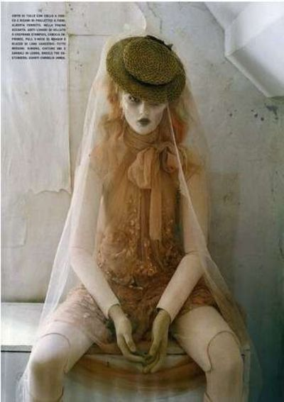 Mechanical Dolls by Tim Walker - This editorial in the October 2011 issue of Vogue Italia is all dolled up -- literally. Mechanical Dolls by Tim Walker features