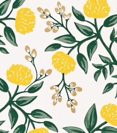 Paper Co Wallpaper Peonies Yellow This Would Look So