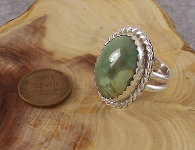 Chunky Variscite Mineral Ring Size 8 | Sterling Silver Green Gemstone Statement Jewelry | Authentic Nevada Variscite $74.95