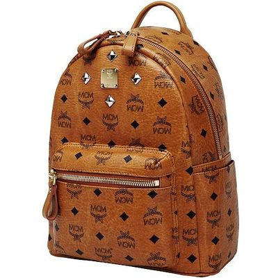 MCM Small Stark Four Studded Backpack In Brown