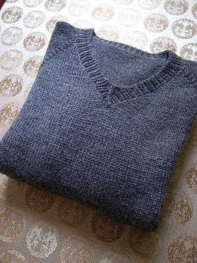 V Neck Knitting Pattern : Simple summer tweed top down v neck, free knitting pattern b... / knits and k...