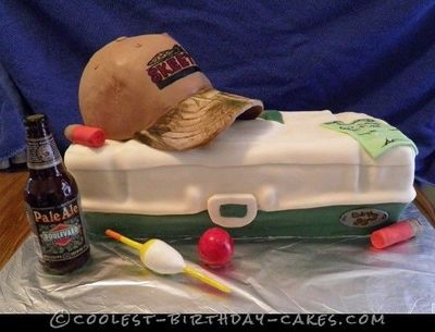 This fishing and hunting cake was a first for me. I had never made a cake like this before. A client contacted me to make a hobby themed surprise b...